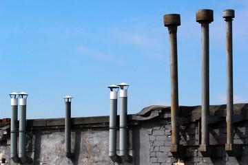 Old metal chimneys