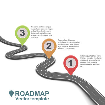 Abstract business roadmap infographic design.