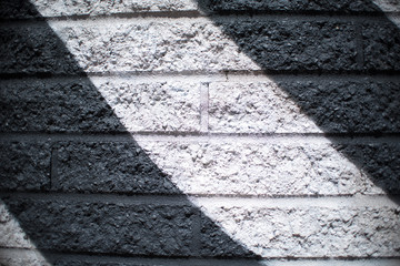 Black and White Brick Wall Background