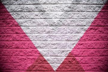 Pink, Gray, Black Brick Wall Paint
