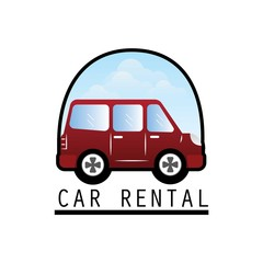 car rent logo with text space for your slogan / tagline, vector illustration