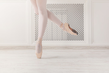 Ballerina legs crop stand on pointe shoes
