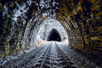 View of the old tunnels.