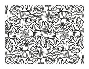 Fantasy decorative pattern page for antistress coloring