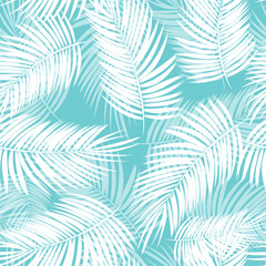 Palm Leaf Vector Seamless Pattern Background Illustration