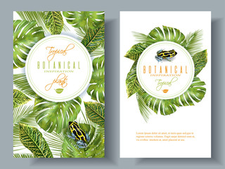 Tropical vertical banners