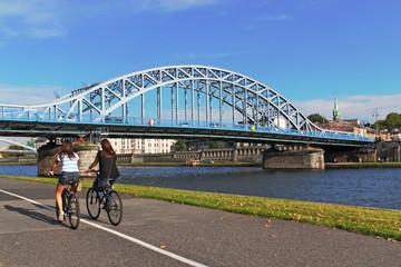 Krakau, Blaue Brücke