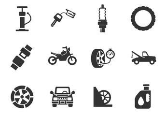 carshop icon set