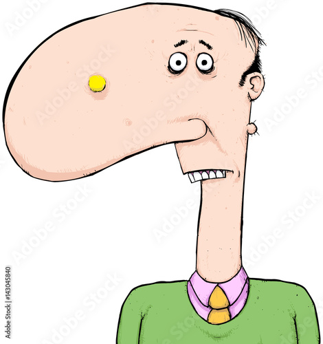 man with giant nose cartoon character always someone with a big rh fotolia com Cartoon Characters with Big Eyes cartoon character big nose looking over wall