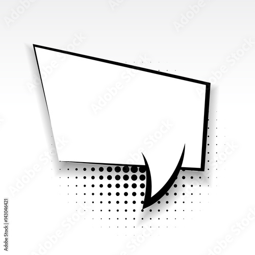 white blank square template comics book burst balloon bubble icon