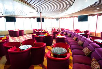 Interior of a luxury cruise ship