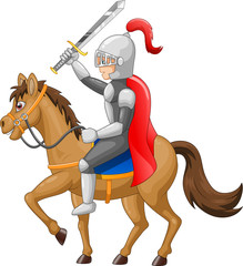 Poster Superheroes Knight horse shield sword