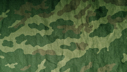 Old camouflage cloth pattern.