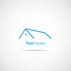 Real Estate line icon or logo design
