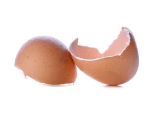 Egg shells broken isolated on white background
