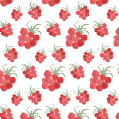Pattern with raspberry.