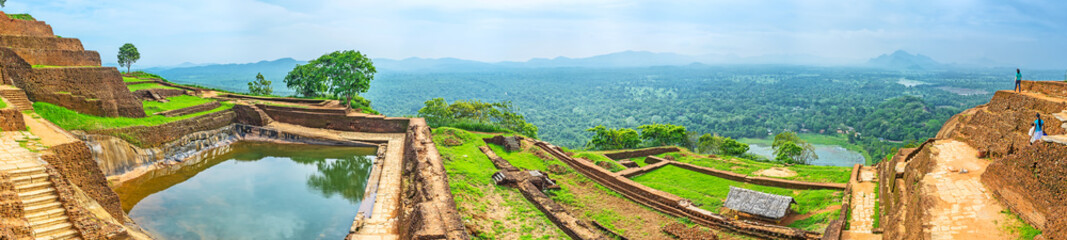 Panorama of the Upper Palace of Sigiriya