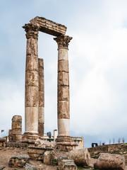 columns of Temple of Hercules at Amman Citadel