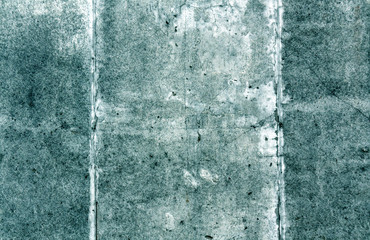 Cyan color grungy cement wall surface