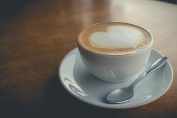 hot coffee with foam milk