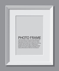 Frame photos. realistic illustration