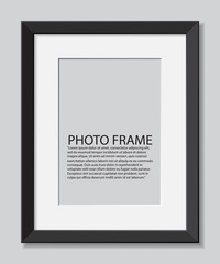 Frame photos. realistic illustration