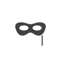 Carnival mask icon vector, filled flat sign, solid pictogram isolated on white. Masquerade symbol, logo illustration. Pixel perfect