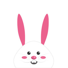 nice face of happy rabbit animal