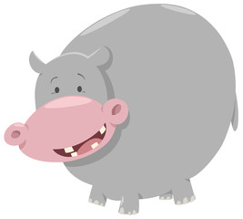 hippo cartoon animal character