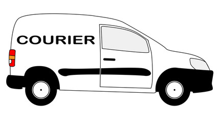 Small Courier Delivery Van