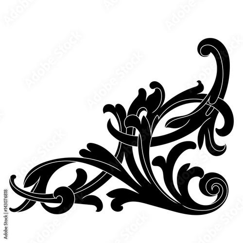 vintage baroque ornament corner retro pattern antique style rh fotolia com