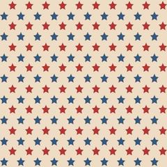 American stars seamless pattern