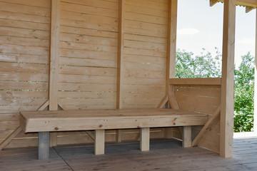 Wooden cottage inside