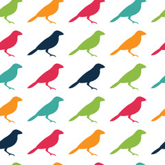 Vector seamless pattern texture with birds
