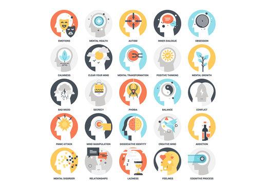 25 Mental Process Icons 2