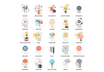 25 Mental Process Icons 9