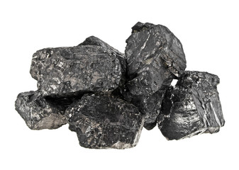 Pile of coal on white background, Anthracite