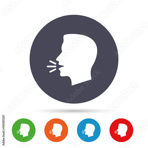 Talk Or Speak Icon Loud Noise Symbol Stock Image And Royalty Free