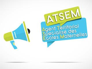 mégaphone : ATSEM