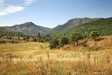 Landscape near Madau. Sardinia island. Italy