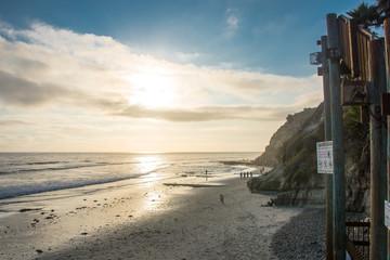 Swami's Beach with Cliffs