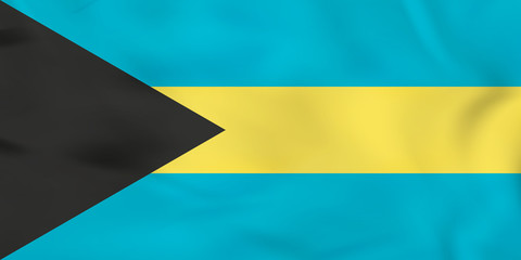 The Bahamas waving flag. The Bahamas national flag background texture.