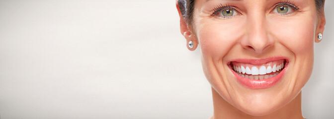 Beautiful woman smile.