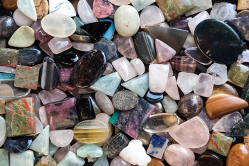 Beautiful gemstones on indian market, Arambol, Goa