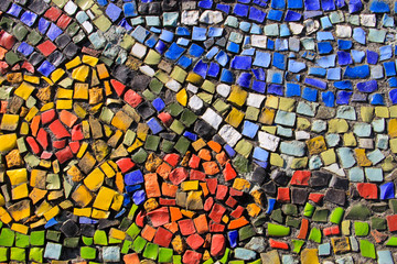 Mosaic background. Colorful ceramic tile pattern