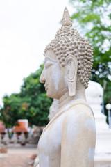 Buddha Statue at Wat Yai Chaimongkol, Ayutthaya, Thailand..