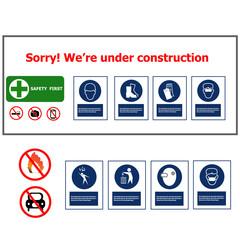 warning sign construction