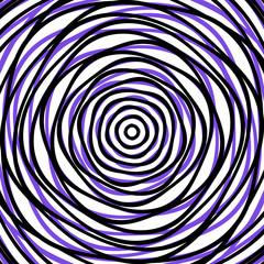Random concentric circles. Abstract background with irregular circular pattern
