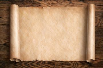 vintage scroll or map 3d illustration