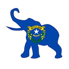 Nevada Republican Elephant Flag